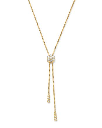 Bloomingdale's - Diamond Flower Bolo Necklace in 14K Yellow Gold, 0.85 ct. t.w. - 100% Exclusive