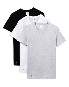 Lacoste Slim Fit V-Neck Tee, Pack of 3 - Bloomingdale's_0