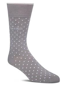 Calvin Klein Giza Pin Dot Socks - Bloomingdale's_0