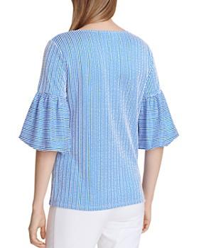 Calvin Klein - Seersucker Bell-Sleeve Top
