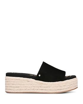Sam Edelman - Women's Weslee Suede Espadrille Slide Sandals