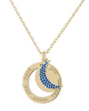 Lulu Dk Moon Pendant Necklace, 16