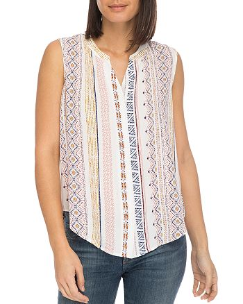 B Collection by Bobeau - Fiona Sleeveless Printed Top