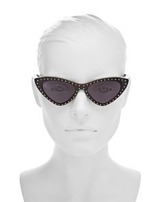 Moschino - Women's Moschino 006 Slim Cat Eye Sunglasses, 52mm
