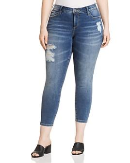 SLINK Jeans Plus - Distressed Skinny Ankle Jeans in Annie