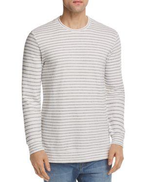 Velvet by Graham & Spencer Argo Striped Terry Crewneck Sweatshirt