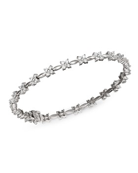 Bloomingdale's - Diamond Flower Bracelet in 14K White Gold, 2.0 ct. t.w. - 100% Exclusive