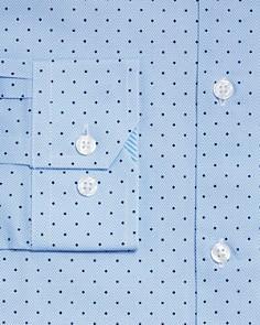 WRK - Textured Ground Dot Slim Fit Dress Shirt