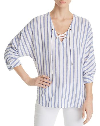 Rails - Lily Lace-Up Striped Top - 100% Exclusive