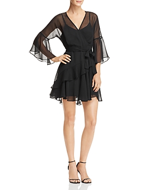 French Connection Ellette Ruffled Faux-Wrap Dress