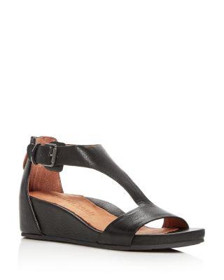 Gisele Leather Platform Wedge Sandals