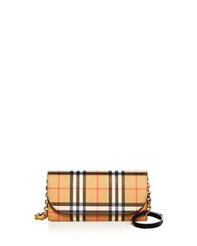 501742c48352 Burberry - Vintage Check and Leather Wallet with Chain ...