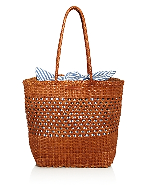 Loeffler Randall MAYA LARGE WOVEN LEATHER TOTE