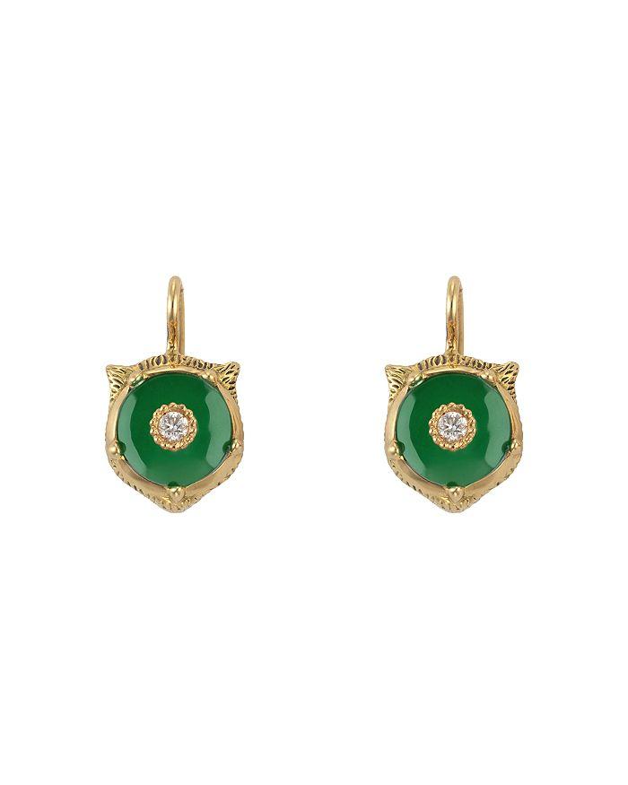 0860b33f30c Gucci - 18K Yellow Gold Le March eacute  Des Merveilles Jade   Diamond  Feline ...