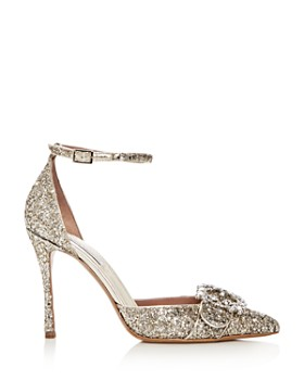 Tabitha Simmons - Women's Tie the Knot Glitter Pointed Toe Pumps