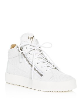 05f7143077dc72 Giuseppe Zanotti - Women s May London Snake   Croc Embossed Leather High Top  Sneakers ...