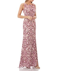 JS Collections - Floral Embroidered Gown