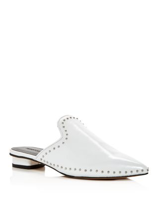 Chamille Studded Leather Mules