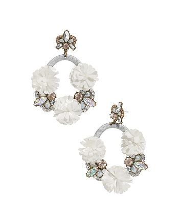 BAUBLEBAR - Ice Lily Loop Drop Earrings