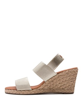 Andre Assous - Women's Allison Stretch Strap Mid Wedge Espadrille Sandals
