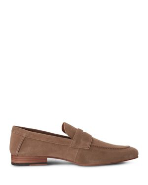 GORDON RUSH MEN'S WILFRED SUEDE APRON TOE PENNY LOAFERS