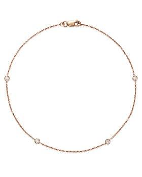 Bloomingdale's - Diamond Bezel Ankle Bracelet in 14K Rose Gold, 0.20 ct. t.w. - 100% Exclusive