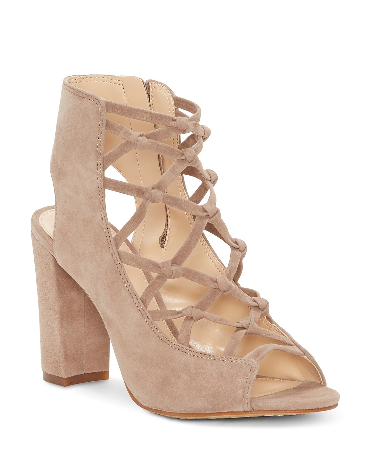 Vince Camuto Women's Stesha Caged Suede Block Heel Sandals vfzy9q5D