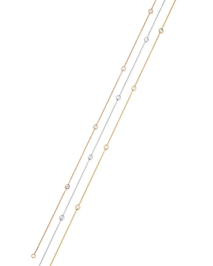Bloomingdale's - Diamond Bezel Ankle Bracelet in 14K Gold, 0.20 ct. t.w. - 100% Exclusive