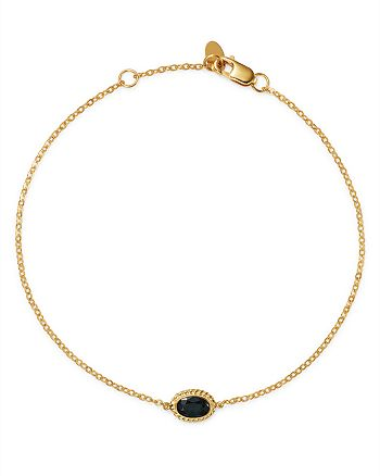 Bloomingdale's - Sapphire Oval Station Bracelet in 14K Yellow Gold - 100% Exclusive