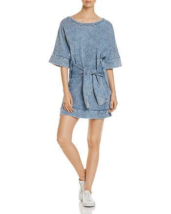Kenneth Cole - Tie-Front Sweatshirt Dress