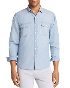 FRAME Chambray Regular Fit Button-Down Shirt - Bloomingdale's_0