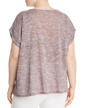 B Collection by Bobeau Curvy - Mia Marled Sweater-Knit Tee