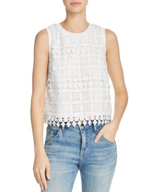 LUCY PARIS SLEEVELESS LACE TOP