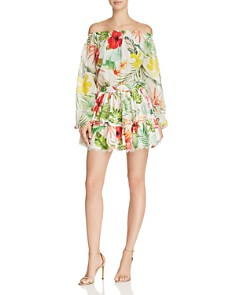 Rococo Sand - Floral Mini Skirt