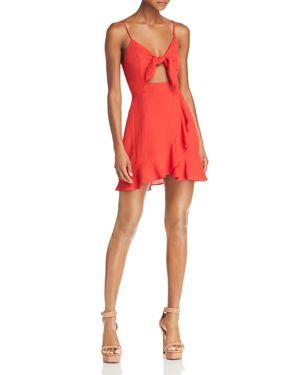 TIE-FRONT CUTOUT DRESS