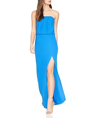 Halston Heritage Strapless Draped-Back Gown - 100% Exclusive