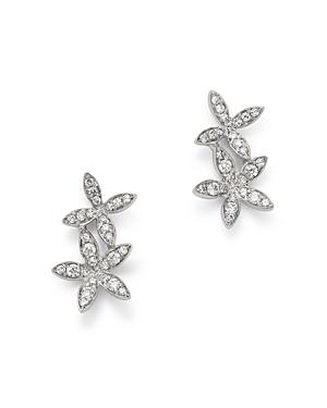 Kc Designs 14K White Gold Double Flower Diamond Earrings