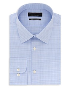 The Men's Store at Bloomingdale's Micro Grid Slim Fit Stretch Dress Shirt - 100% Exclusive_0