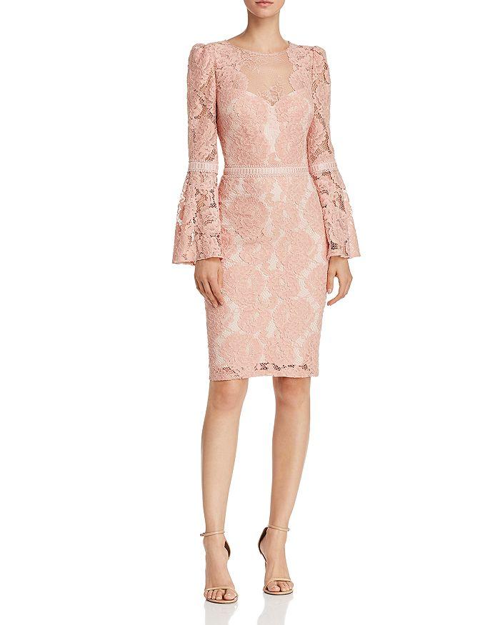 de387a11401 Tadashi Shoji - Bell-Sleeve Lace Dress