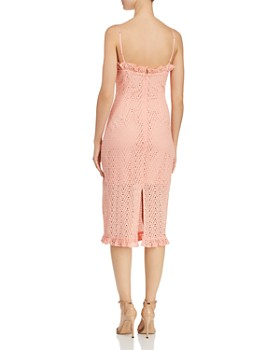 C/MEO Collective - Runaways Chevron Eyelet Ruffled Midi Dress - 100% Exclusive