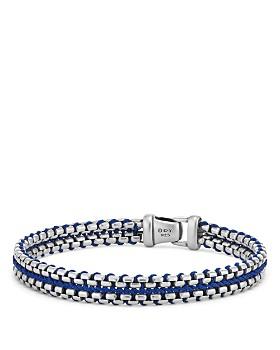 David Yurman - Woven Box Chain Bracelet in Blue