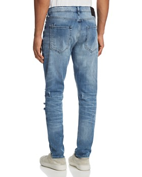 PRPS Goods & Co. - Rip and Repair Skinny Fit Jeans in Indigo