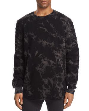 NANA JUDY Nana Judy Montana Crewneck Sweatshirt in Black Tie Dye