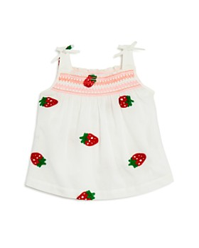 Design History - Girls' Strawberry-Embroidered Top - Little Kid