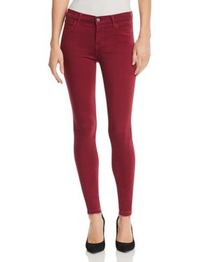 J Brand 620 Mid Rise Super Skinny Jeans in Deep Plum 2988010