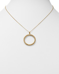 Bloomingdale's - Milgrain Circle Pendant Necklace in 14K Yellow Gold - 100% Exclusive