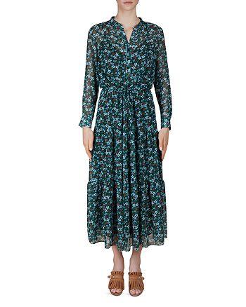 Gerard Darel - Della Floral-Print Drawstring Midi dress