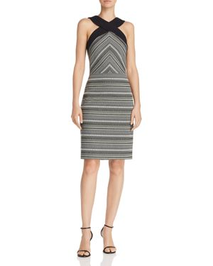 Laundry by Shelli Segal Cross-Front Jacquard Dress 2991261