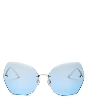 Dolce &Amp; Gabbana 64 Gold Square Sunglasses - Dg2204 in Gold / Gold