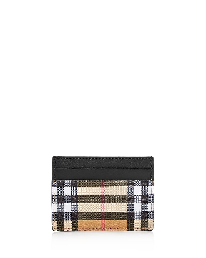 3b4b1bb1a1 Burberry Vintage Check & Leather Card Case | Bloomingdale's